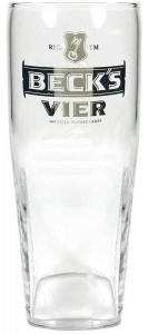 Beck's Vier Branded 1/2 Pint Glass For Sale UK - CE 10oz / 280ml - Box of 24